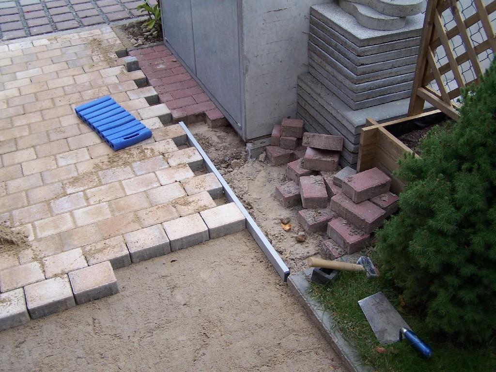 umgestaltung vorgarten - gartenbau & aussengestaltung - baumaschinen