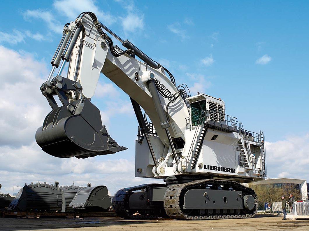 Neuer 800 Tonnen Mining Bagger Liebherr R 9800 Liebherr