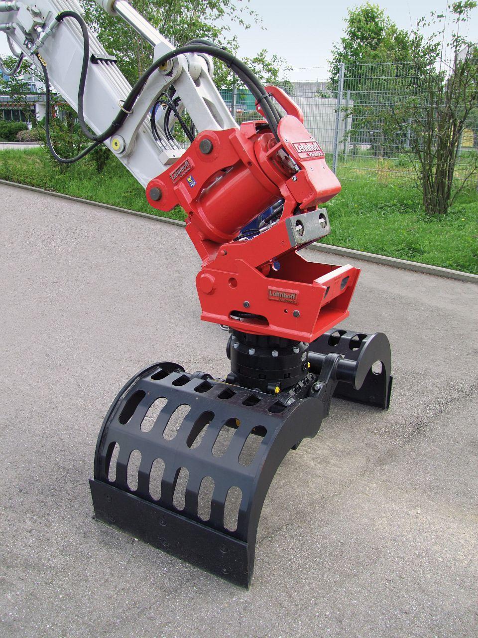 Lehnhoff: vollhydraulischer Schnellwechsler für Bagger ab 2 Tonnen - Anbaugeräte - Baumaschinen ...