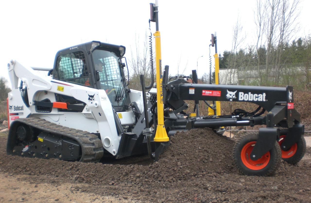 Bobcat T870 Mit Laser Grader Und Ultraschall Grader