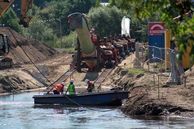 Die von max streicher gebaute sdw pipeline soll auf 72 kilometern die