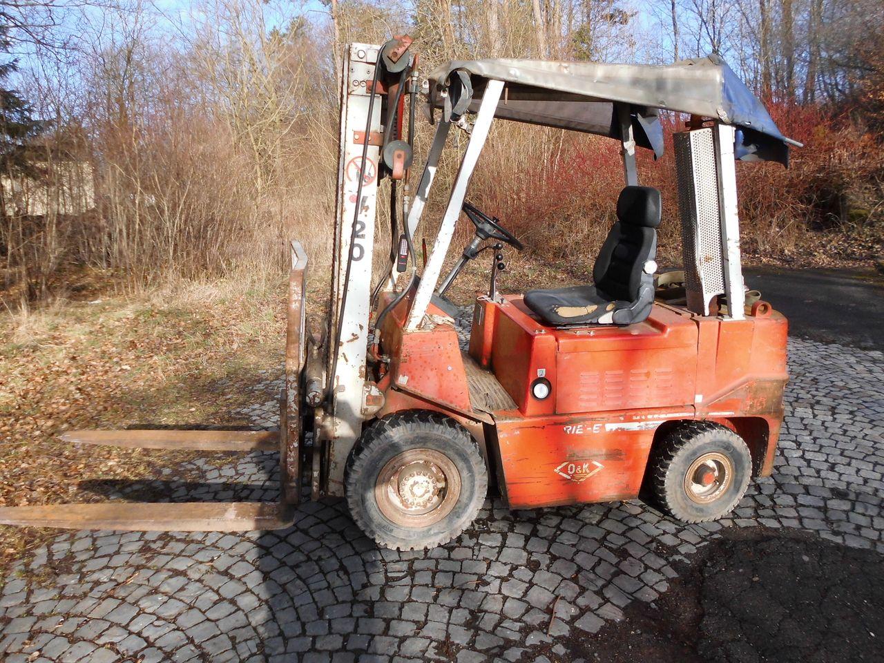 Restauration Gabelstapler O&K V20 Bj.1985 - Oldtimer - Restauration ...