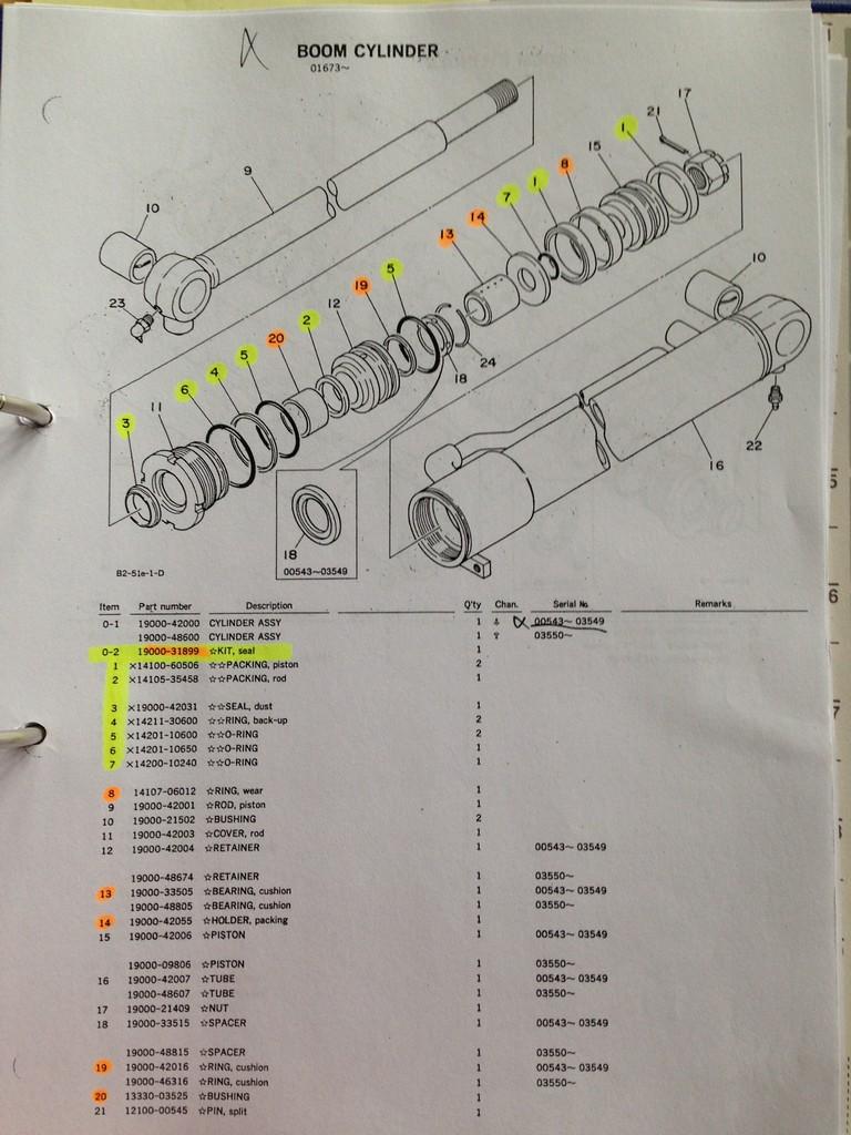 Fabelhaft TB15 Drehgelenk & Zylinder abdichten - Takeuchi - Baumaschinen @QZ_26