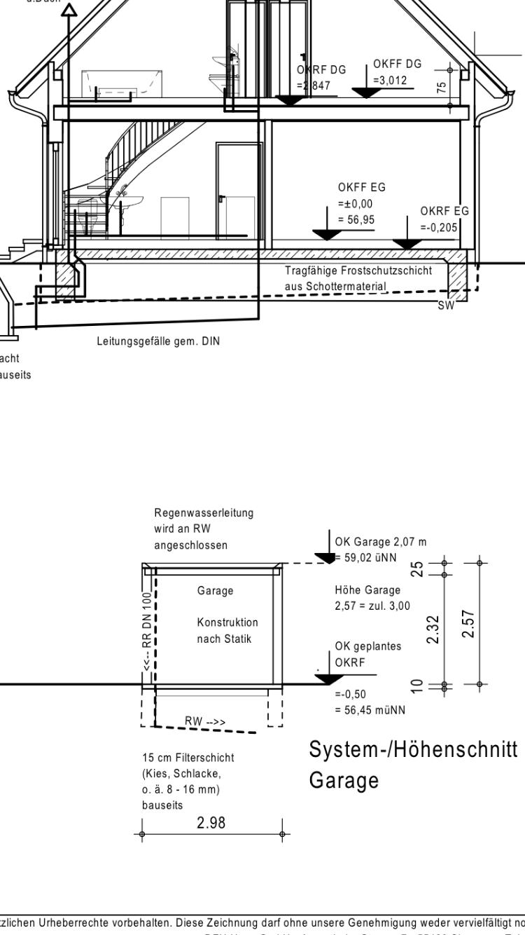 Hohe Der Fundamente Der Garage Hausbau Allgemein Baumaschinen