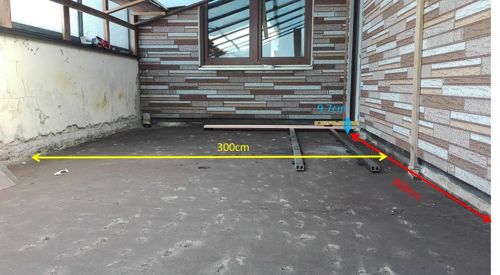 balkonsanierung und wpc holzaufbau kein platz f r ein gef lle hausbau allgemein. Black Bedroom Furniture Sets. Home Design Ideas