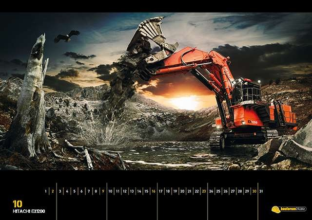 Hitachi EX1200 Mining Bagger Wallpaper - Bauforum24 ...