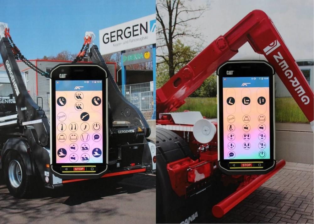 Gergenbringt eine auf Smartphone-Technologie aufgebaute Steuerung für seine Absetz- und Abrollkipper heraus