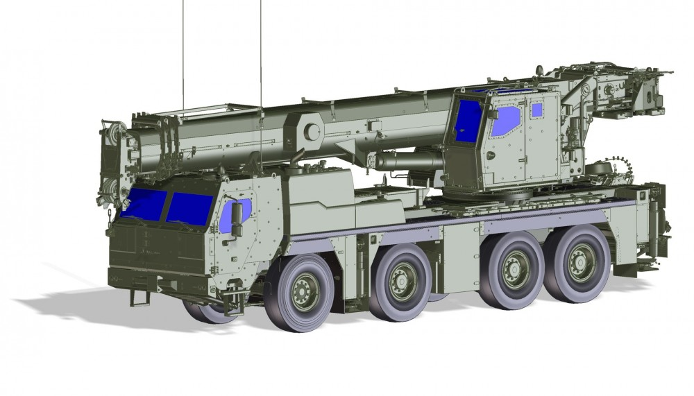 Liebherr G-LTM 1090-4.2 Konstruktionszeichnung