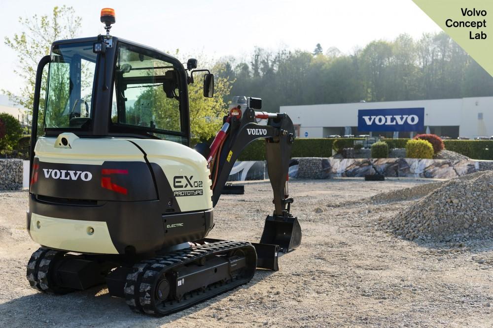 Volvo EX2 vollelektrischer Komapktbagger Prototyp