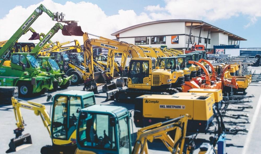 Baumaschinen und Baugeräte bei HKL