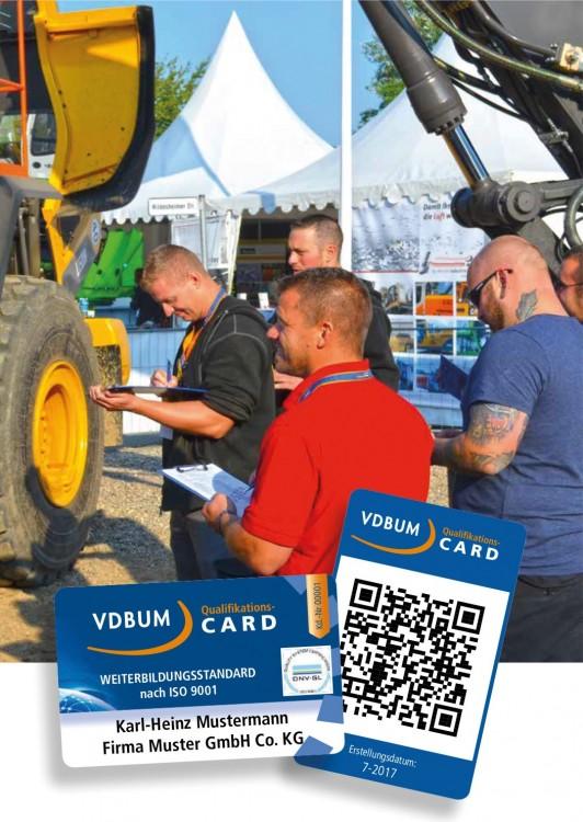 Nachweis der Qualifikation: die neue VDBUM QualifikationsCARD dokumentiert nachvollziehbar alle absolvierten Schulungen