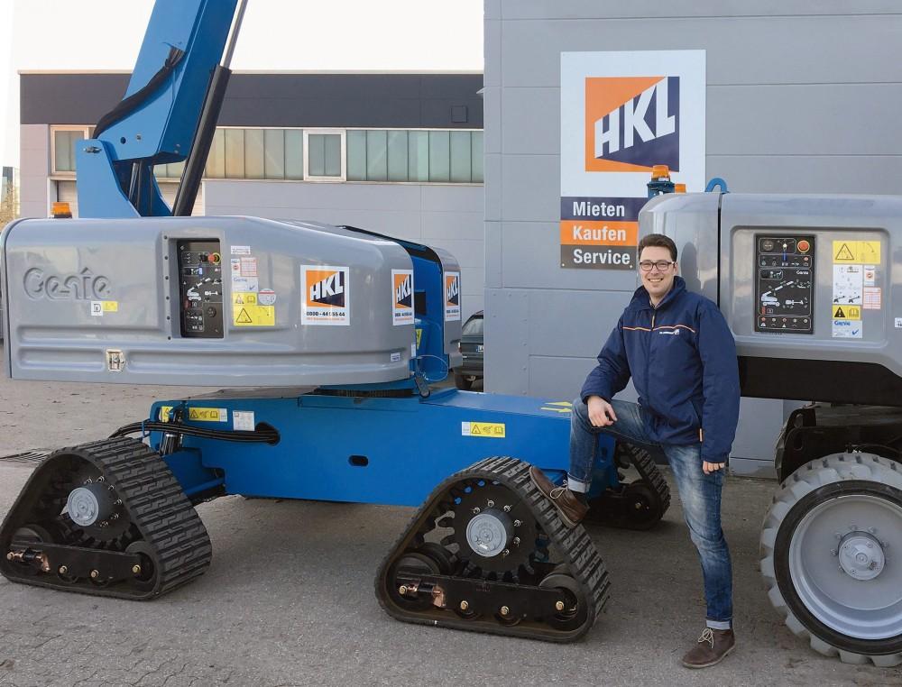 Jens Galle ist Kundenberater im Außendienst im HKL Arbeitsbühnen- und Teleskopcenter NRW in Dortmund