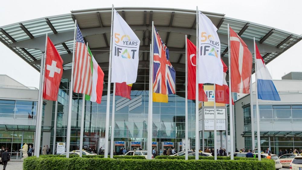 Über 3.100 Aussteller werden zur IFAT 2018 auf dem Gelände der Messe München erwartet