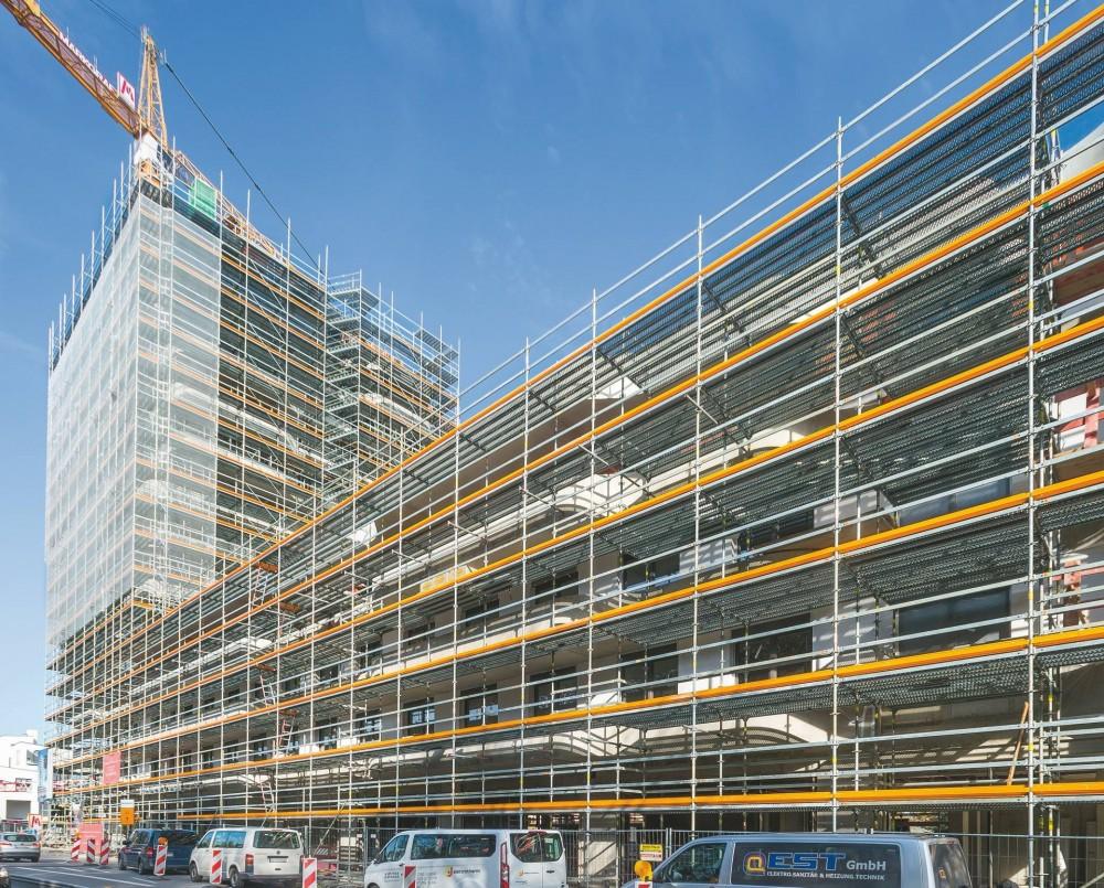 Rohbau des IN-Towers mitPERI Schalungs- und Gerüstlösung
