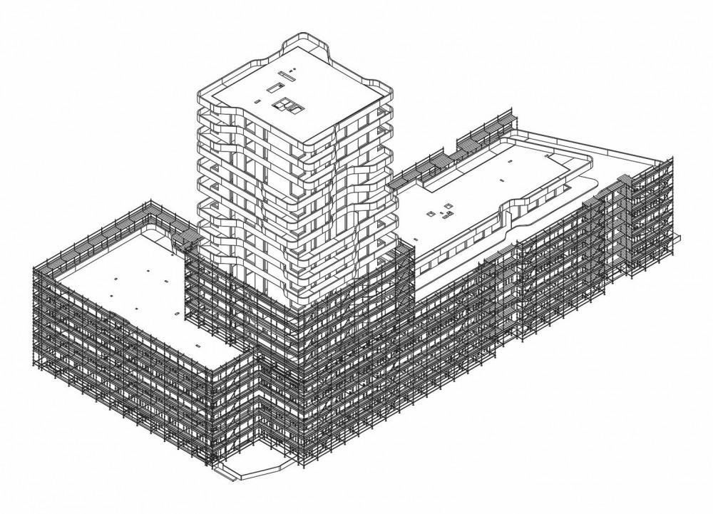 Gerüstplan für den IN-Tower