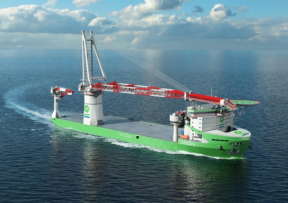 Der Offshore-Kran HLC 295000 wird einmal Windparks installieren und Offshore-Anlagen rückbauen