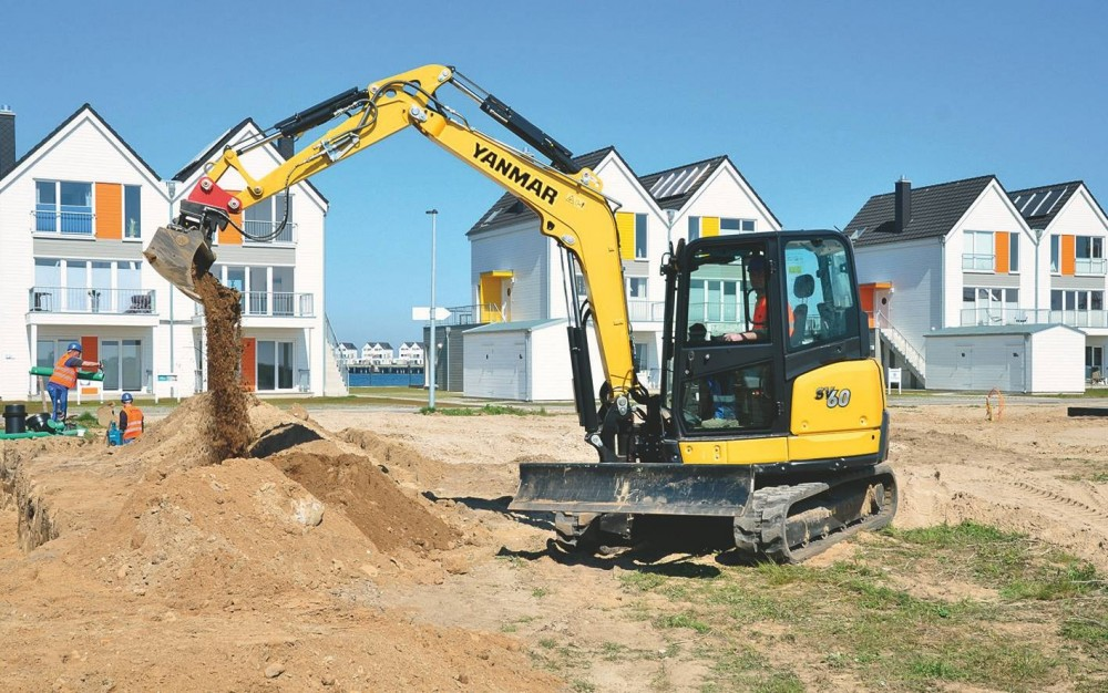 """Die von HKL neu erworbenen Maschinen sind vor allem bei dem Bauvorhaben """"Ostsee Resort Olpenitz"""" aktiv"""