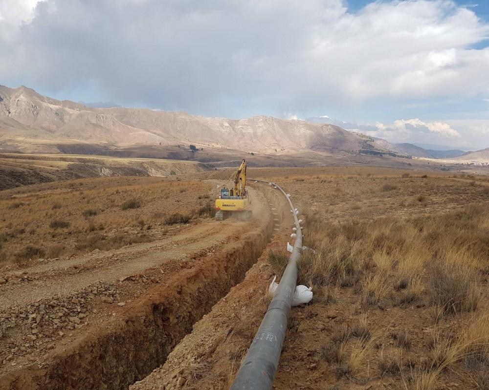 """Großprojekt """"Expansión Gasoducto Sucre-Potosí"""" in Bolivien"""