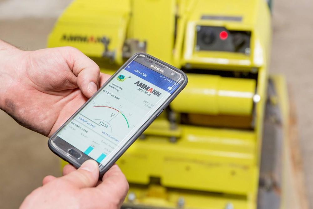 Ammann bietet mit ServiceLinkdigitalen Zugang zu den Verdichtern