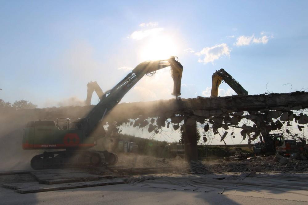 Im Juli 2018 wurdedie Brücke in Sinsheim dem Erdboden gleichgemacht